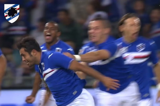 Sampdoria's last home goals vs Roma