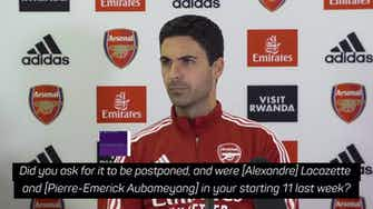 Preview image for Arteta 'surprised' Brentford game was not postponed