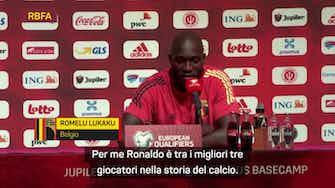 """Anteprima immagine per Lukaku: """"Ronaldo? È tra i primi tre di sempre, no ai paragoni"""""""