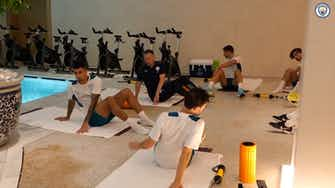 Preview image for City stars in the gym ahead of Liverpool clash