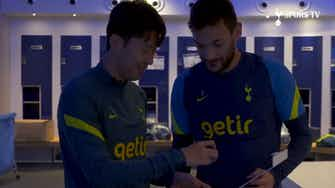 Preview image for Heung-Min Son presents FIFA 22 cards to teammates