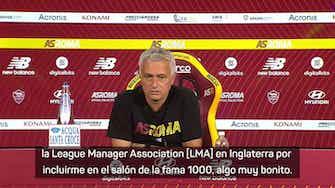 Imagen de vista previa para Mourinho le agradeció a Ferguson por su bienvenida al Salón de la Fama 'Club 1000'
