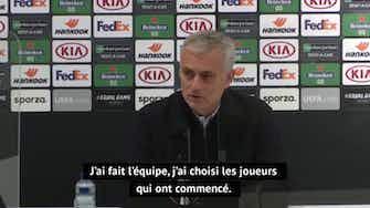"""Image d'aperçu pour Groupe J - Mourinho : """"J'aurais aimé faire 11 changements à la pause"""""""