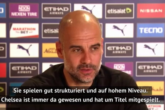 """Guardiola: """"Großes Kompliment an Chelsea"""""""