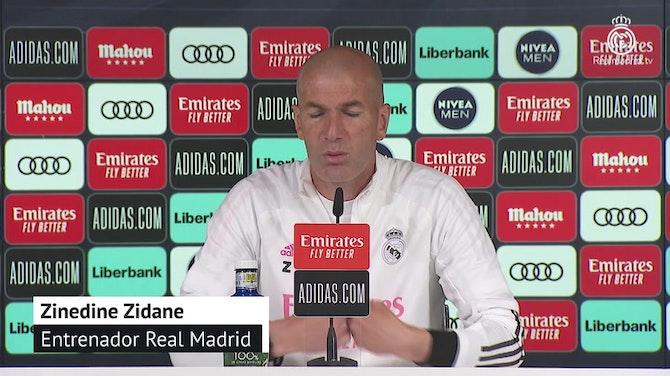 "Zidane, en titulares: ""Mañana no van a poder jugar todos"""