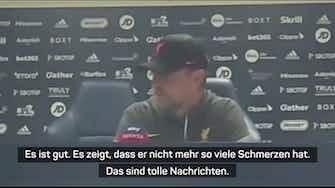 """Vorschaubild für Klopp froh nach Elliott-Post: """"Gute Nachrichten"""""""