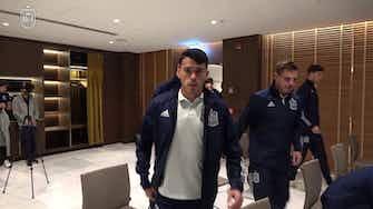 Imagen de vista previa para  La selección española prepara la final en el hotel