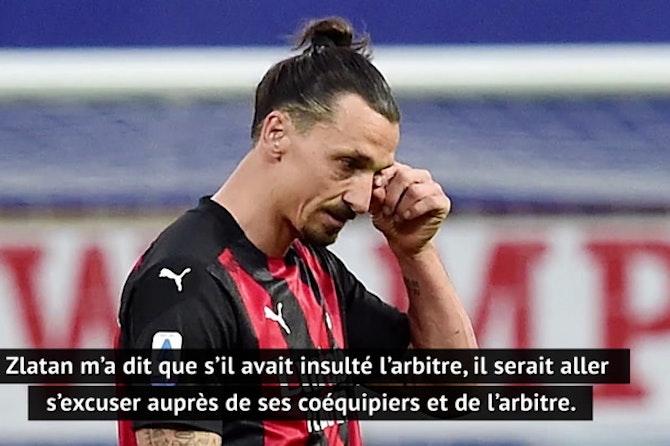 Pioli sur le carton rouge de Zlatan : « Il m'a dit que s'il avait insulté l'arbitre, il serait aller s'excuser »