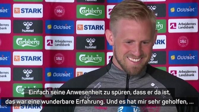"""Schmeichel zu Eriksen: """"Wirklich schön, ihn zu sehen"""""""
