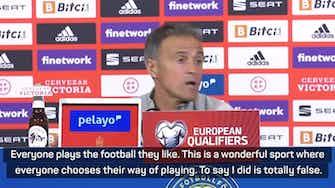 Preview image for Enrique denies criticising Sweden ahead of re-match