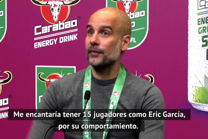 """Guardiola: """"Eric Garcia es uno de mis jugadores favoritos. Se va a ir al Barcelona"""""""