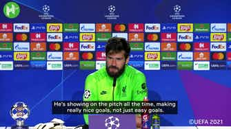 Preview image for Alisson on 'fantastic' Salah and Atletico penalty claim