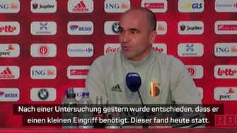 """Vorschaubild für Martinez: """"De Bruyne wird bei der EM dabei sein"""""""
