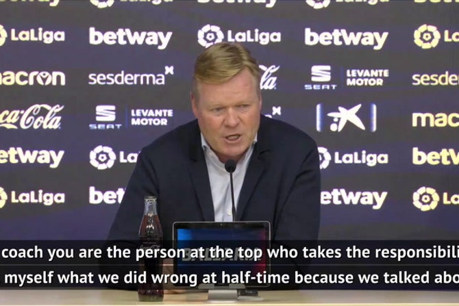 Koeman can't explain Barca blowing leads at Levante