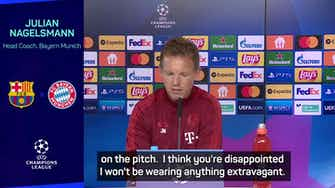 Preview image for No snappy suits for Nagelsmann as Bayern face Barcelona