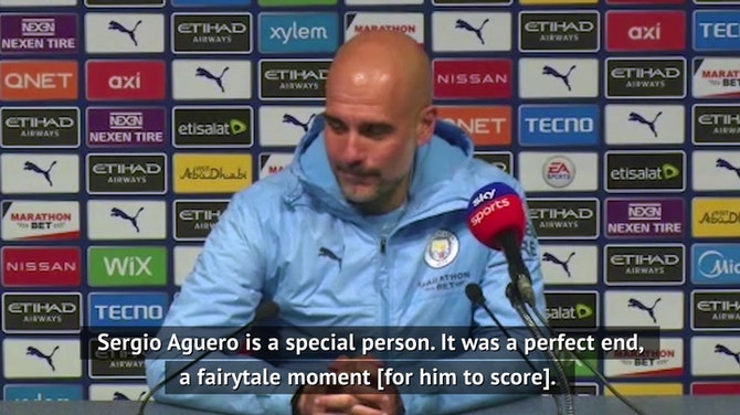 Preview image for Guardiola happy for for Aguero's 'fairytale moment'