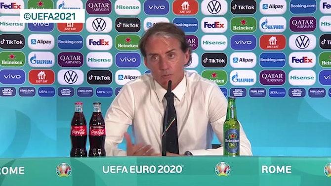 """Mancini fa il modesto: """"Tutto merito dei giocatori"""""""