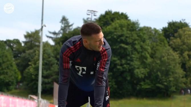 Vorschaubild für Bayern's international stars back in team training