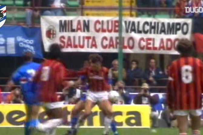 Sampdoria's 1990-91 clashes vs AC Milan