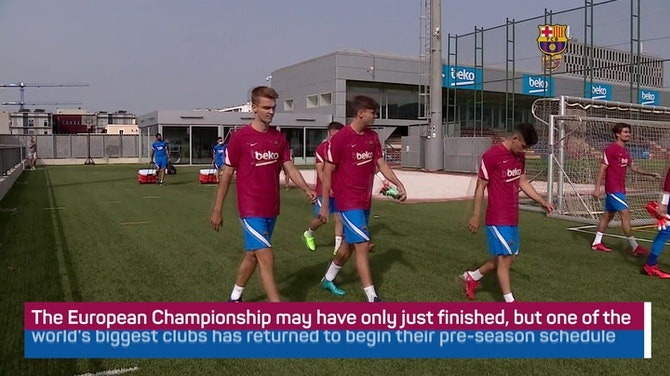 Preview image for Barca return for pre-season training