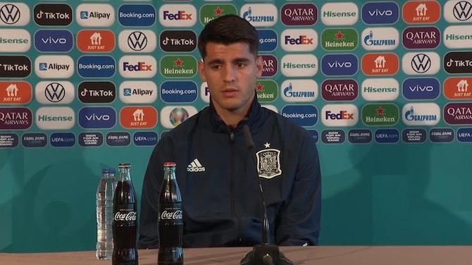 Morata responde a las críticas en rueda de prensa