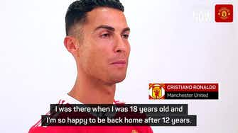 Preview image for Ronaldo 'back home' after re-signing for United