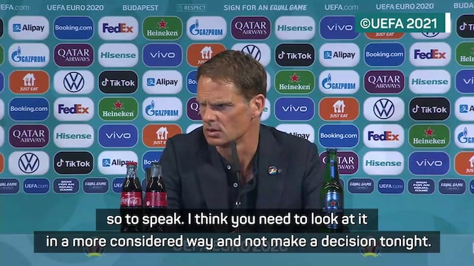 Preview image for Netherlands coach De Boer not ready to consider future after Czech defeat