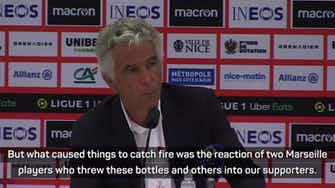 Preview image for Marseille president says Nice pitch invasion 'should become a precedent'