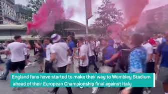 Preview image for England fans descend on Wembley ahead of first major final since 1966