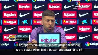 Preview image for Alba hits out at 'lies' over Messi's Barca exit