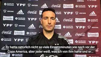 """Vorschaubild für Scaloni: """"Wenn Messi fit ist, spielt er auch"""""""