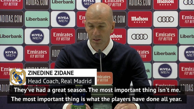 Preview image for Zidane faces more questions over Real future after trophyless season