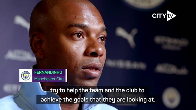 Preview image for 'The job is not done yet' - Fernandinho after contract extension