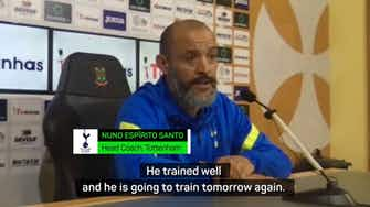Preview image for Nuno confirms Kane will join main Spurs training group