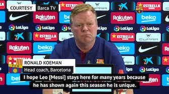 Preview image for Koeman hopes 'unique' Messi will stay amid uncertain Barca future