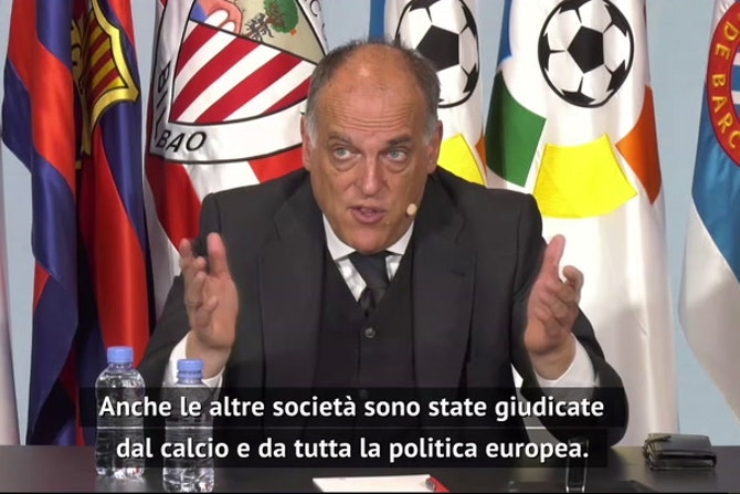 """Super League, Tebas: """"Club puniti dai tifosi, Infantino non mi convince"""""""