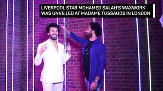 Preview image for Salah meets Salah! Liverpool star gets Madame Tussauds waxwork