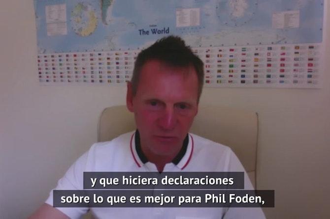 """Stuart Pearce: """"Pep Guardiola fue el único que tuvo paciencia con Phil Foden"""""""