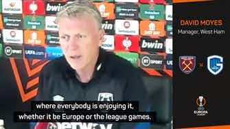 Preview image for Happy Hammers enjoying European adventure - Moyes