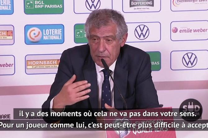 """Portugal - Santos : """"Cela ne va pas toujours dans le sens de Cristiano"""""""