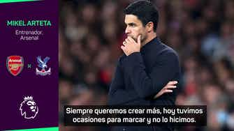 """Imagen de vista previa para Arteta, tras el agónico empate ante el Palace: """"No creo que hayamos merecido perder"""""""