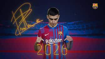 Preview image for Pedri extends contract at FC Barcelona until 2026