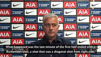 Preview image for Mourinho 'very happy' to see Son-Lloris argument