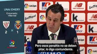 """Imagen de vista previa para Emery: """"Esos penaltis no se deben pitar"""""""