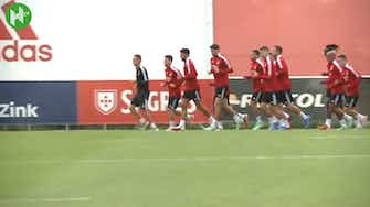 Preview image for Benfica's last training session before Champions League debut