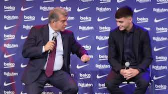 Imagen de vista previa para A Laporta le traiciona el subconsciente; llama Messi a Pedri