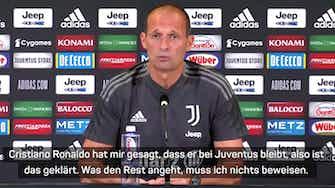 Vorschaubild für Allegri stellt klar: Ronaldo bleibt bei Juventus