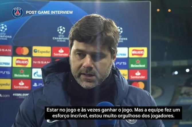 """Pochettino após eliminação do PSG: """"devemos ser positivos e fortes"""""""