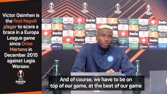 Preview image for We didn't give up - Osimhen on Napoli comeback at Leicester