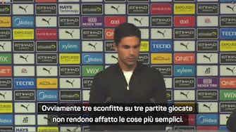"""Anteprima immagine per L'Arsenal perde 5-0 col City, Arteta: """"Sono molto deluso, ma è colpa mia"""""""